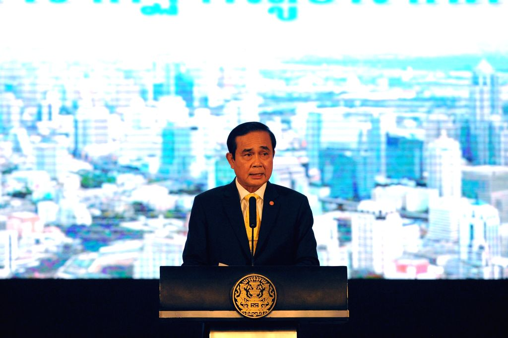BANGKOK, Sept. 15, 2016 - Thai Prime Minister Prayut Chan-o-cha speaks during a press conference on the performances of the government during the last two years, at the Thai Government House in ... - Prayut Chan