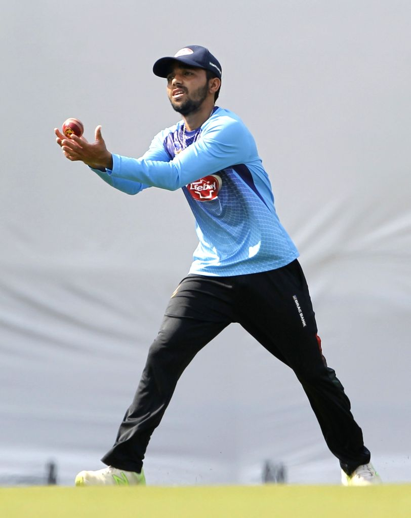 Bangladesh captain Mominul Haque during a practice session ahead of the 1st Test match against India, at Holkar Cricket Stadium in Indore, Madhya Pradesh on Nov 12, 2019. - Mominul Haque