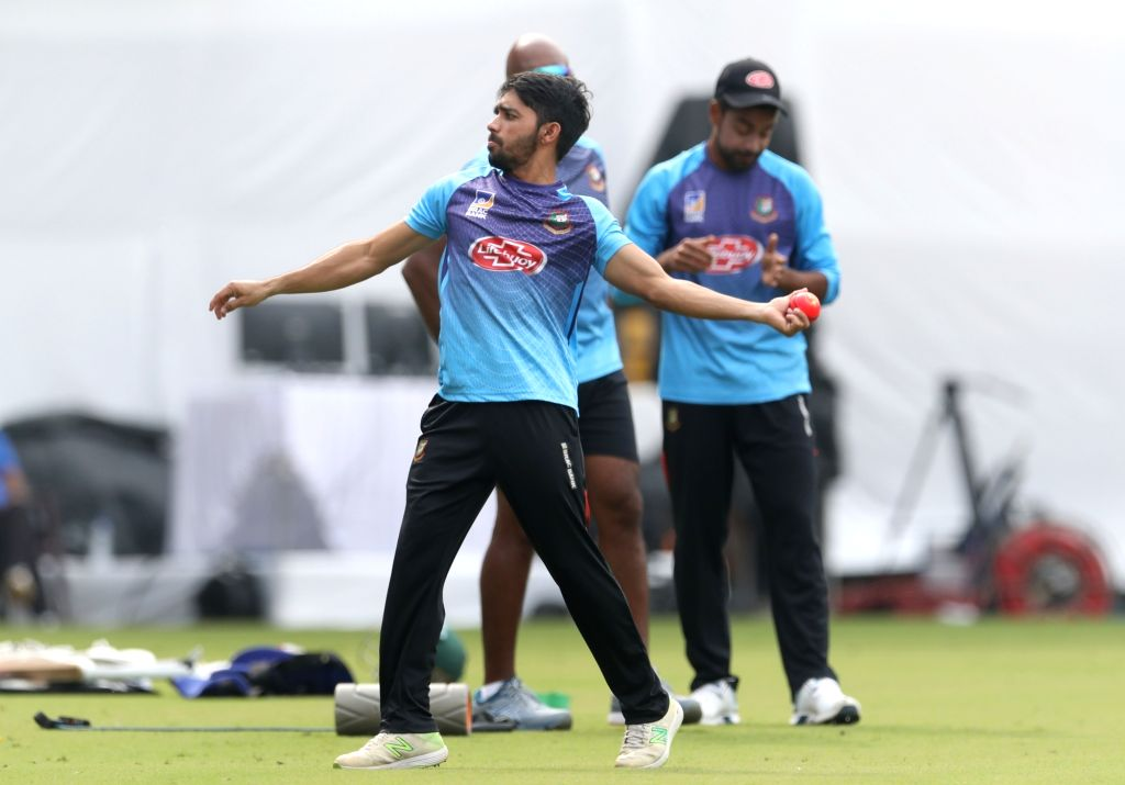 Bangladesh captain Mominul Haque during a practice session ahead of the 1st Test match against India, at Holkar Cricket Stadium in Indore, Madhya Pradesh on Nov 13, 2019. - Mominul Haque