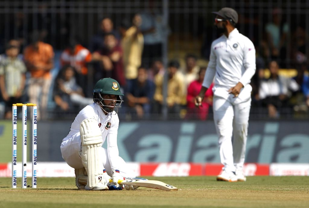 Bangladesh captain Mominul Haque on Day 1 of the 1st Test match between India and Bangladesh at Holkar Cricket Stadium in Indore, Madhya Pradesh on Nov 14, 2019. - Mominul Haque