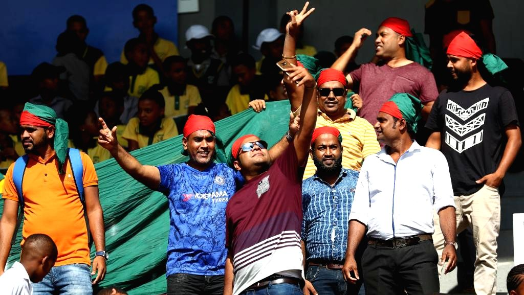 Bangladesh fans cheer for their team during the ICC U19 World Cup final between India and Bangladesh, in Potchefstroom, South Africa on Feb 9, 2020.