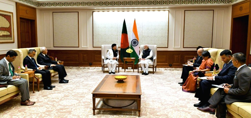 Bangladesh Foreign Affairs Minister A.K. Abdul Momen calls on Prime Minister Narendra Modi in New Delhi, on Feb 7, 2019. - A. and Narendra Modi
