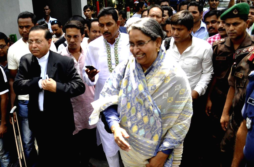 Bangladesh Member of Parliament and former Foreign Minister Dr Dipu Moni arrives in India through Akhaura land border in Agartala on July 9, 2014.