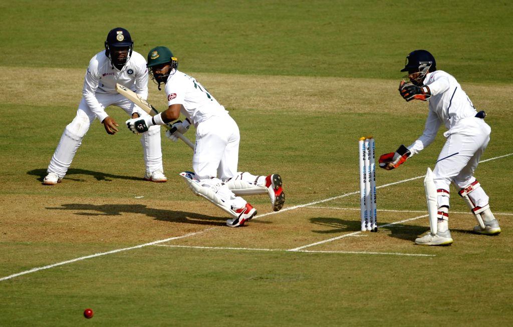 Bangladesh's Liton Das on Day 1 of the 1st Test match between India and Bangladesh at Holkar Cricket Stadium in Indore, Madhya Pradesh on Nov 14, 2019.