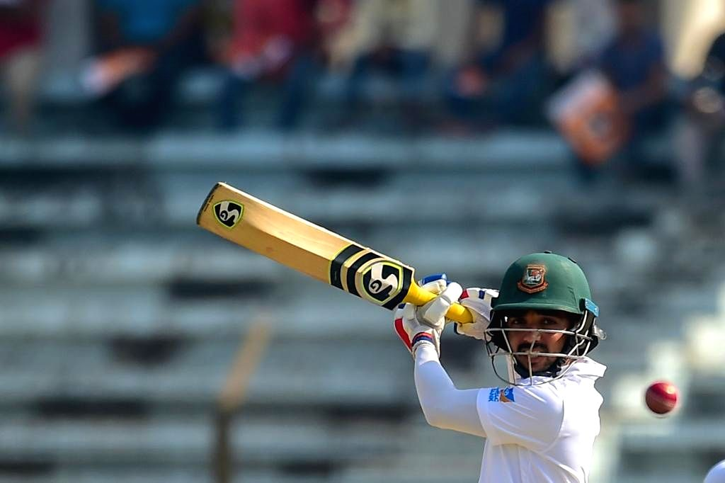 Bangladesh's Mominul Haque in action on Day 2 of the Only Test between Afghanistan and Bangladesh at Zahur Ahmed Chowdhury Stadium in Chittagong, Bangladesh on Sep 6, 2019.