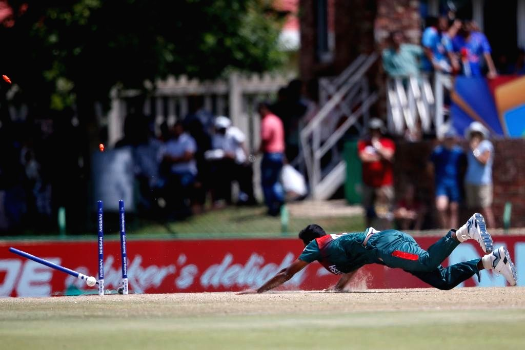 Bangladesh's Shoriful Islam in action during the ICC U19 World Cup final between India and Bangladesh, in Potchefstroom, South Africa on Feb 9, 2020.