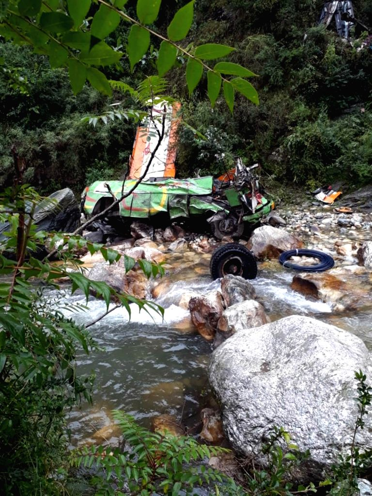 Banjar: At least 25 people were killed and 35 others injured when a bus skidded off the road and fell into a 300-m-deep gorge near Banjar, some 50 km from Kullu town on June 20, 2019. The private bus was on its way to Gada Gushaini from Kullu when th