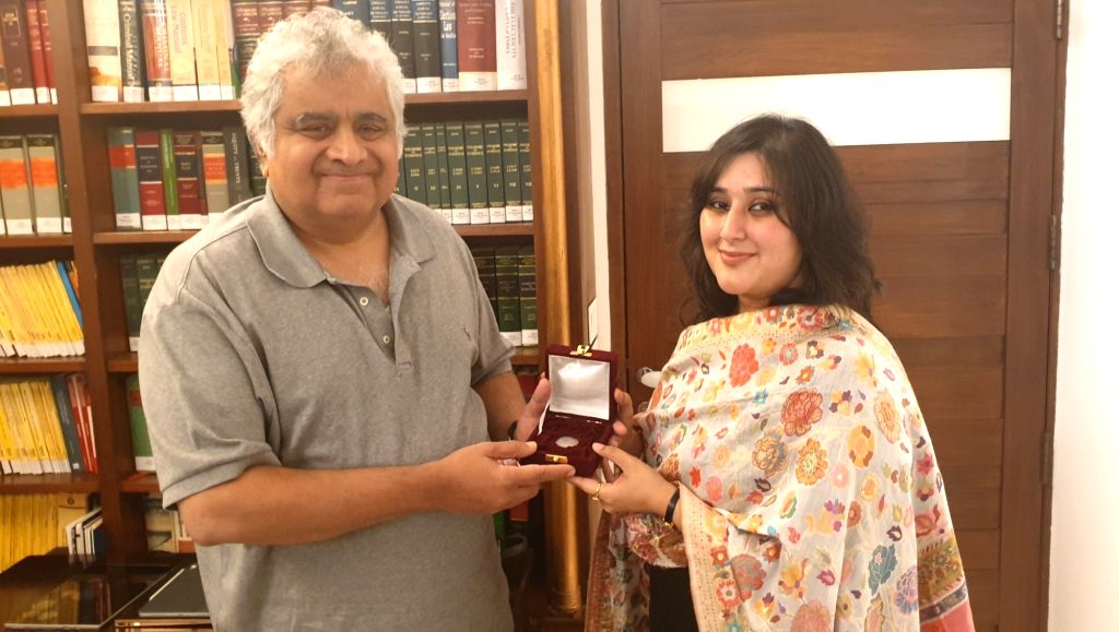 Bansuri calls on Harish Salve to present the One Rupee coin that her mother Former External Affairs Minister Sushma Swaraj had left as his fees for Kulbhushan Jadhav's case. - Sushma Swaraj