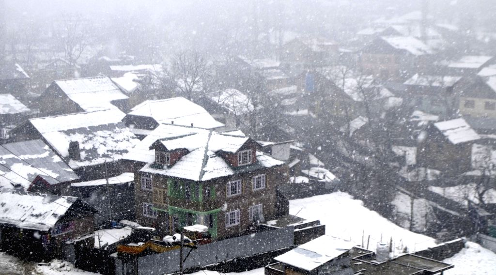 Baramulla in the Indian union territory of Jammu and Kashmir, receives fresh snowfall, on Nov 7, 2019.