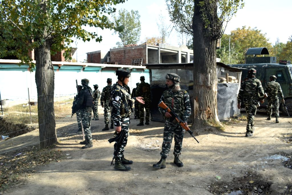 : Baramulla: Security beefed up in Pattan after militants hurled grenade at a police checkpost injuring three policemen, including a senior officer, were injured along with a civilian in Jammu and ...