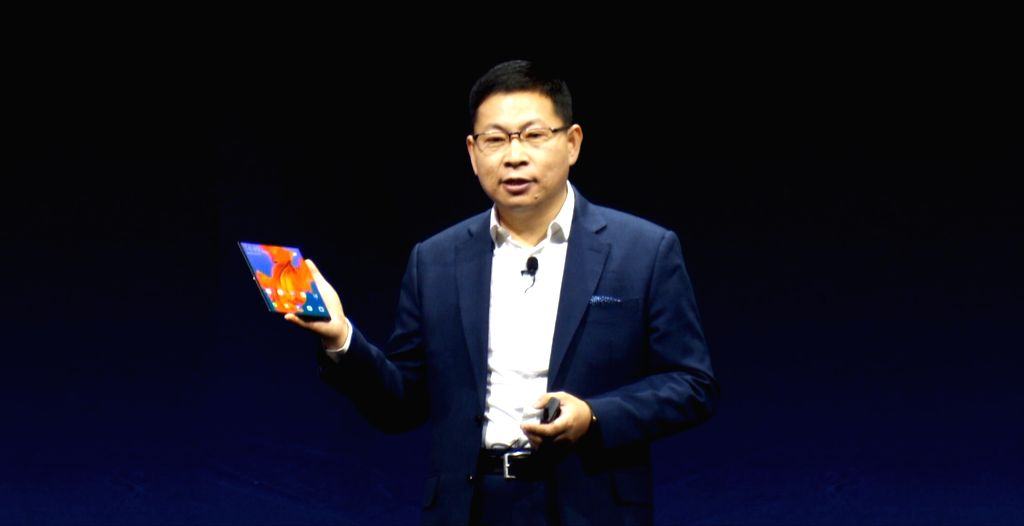 BARCELONA, Feb. 25, 2019 - Richard Yu, CEO of Consumer Business Group of Chinese tech company Huawei, presents the new Mate X, a foldable 5G ready smartphone, ahead of the Mobile World Congress in ...