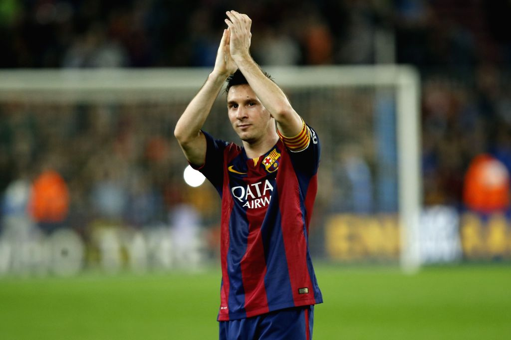 Barcelona (Spain):Barcelona's Argentine forward Lionel Messi during La Liga football match FC Barcelona v Sevilla FC in Barcelona, Spain, Nov. 22, 2014. Barcelona wins 5-1, with 3 goals by Leo Messi,