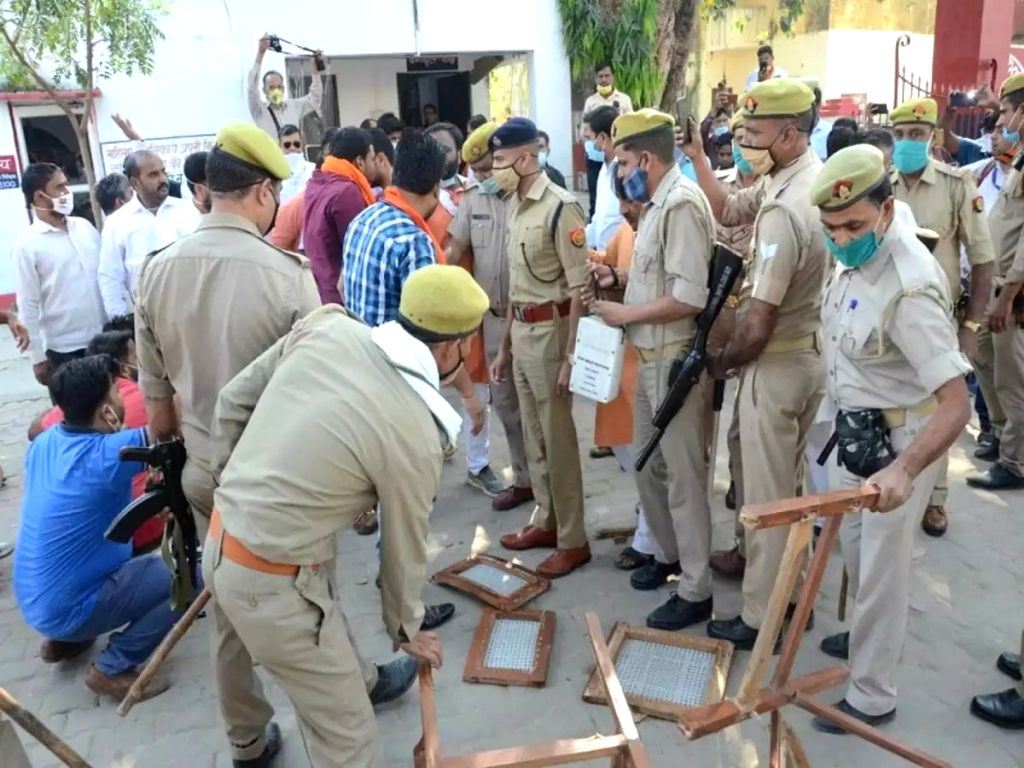 Bareilly police station vandalised.