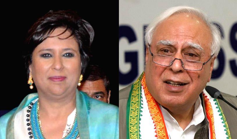 Barkha Dutt (Right) and Kapil Sibal (Left). - Barkha Dutt