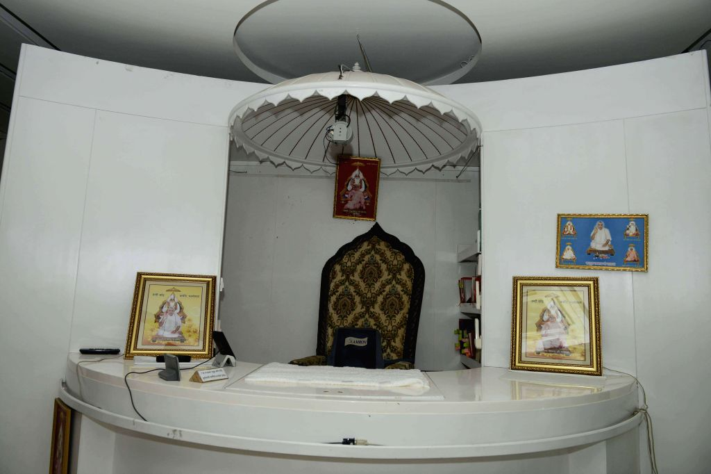The seat of controversial sect leader Rampal at Satlok Ashram near Barwala town in Haryana's Hisar district, 210 km from Chandigarh on Nov 20, 2014.