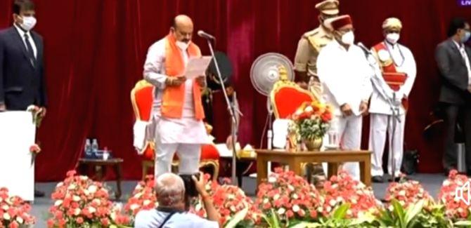 Basavaraj Bommai sworn-in as the 30th Chief Minister of Karnataka.