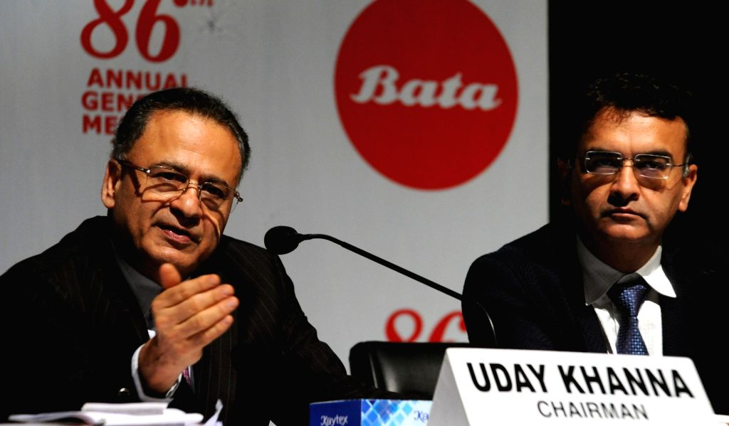 Bata India Chairman Uday Khanna and CEO Sandeep Kataria during the annual general meeting of the company in Kolkata on Aug 2, 2019. - Uday Khanna