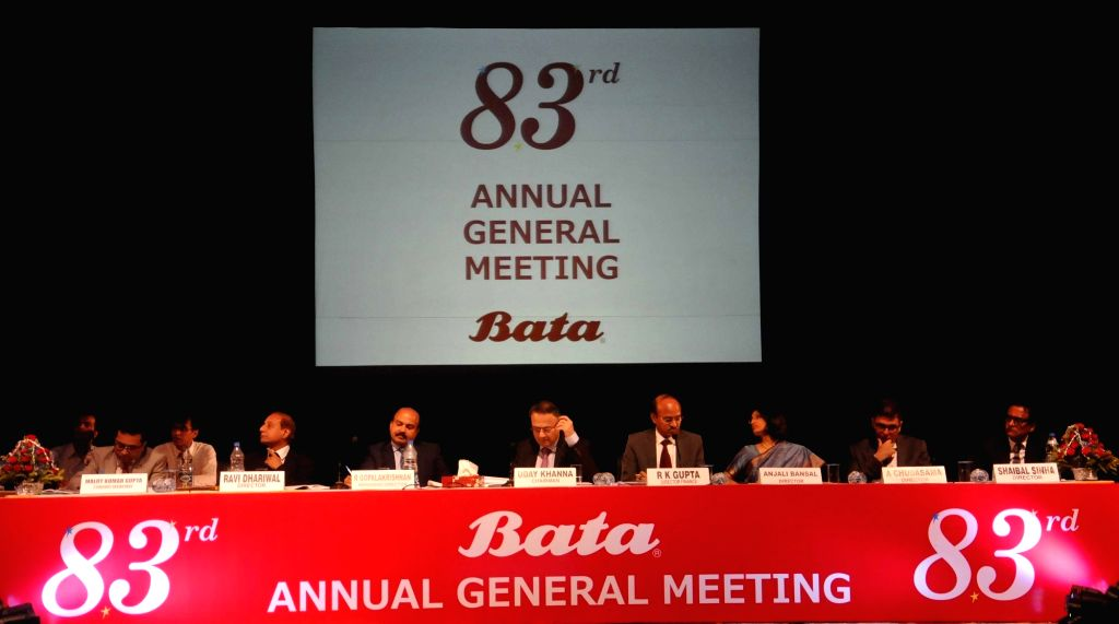 Bata India Limited Chairman Uday Khanna during company's 83rd Annual General Meeting in Kolkata on Aug 8, 2016. - Uday Khanna