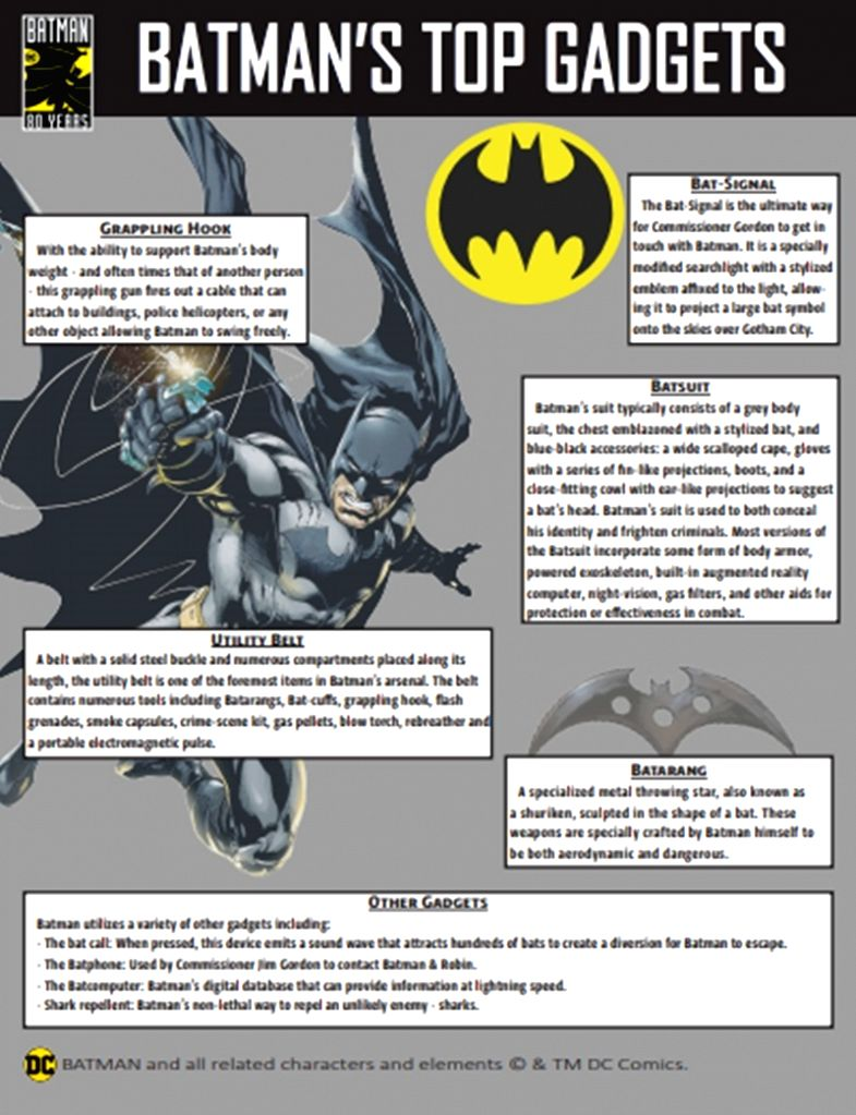 Batman 80th anniversary assets.