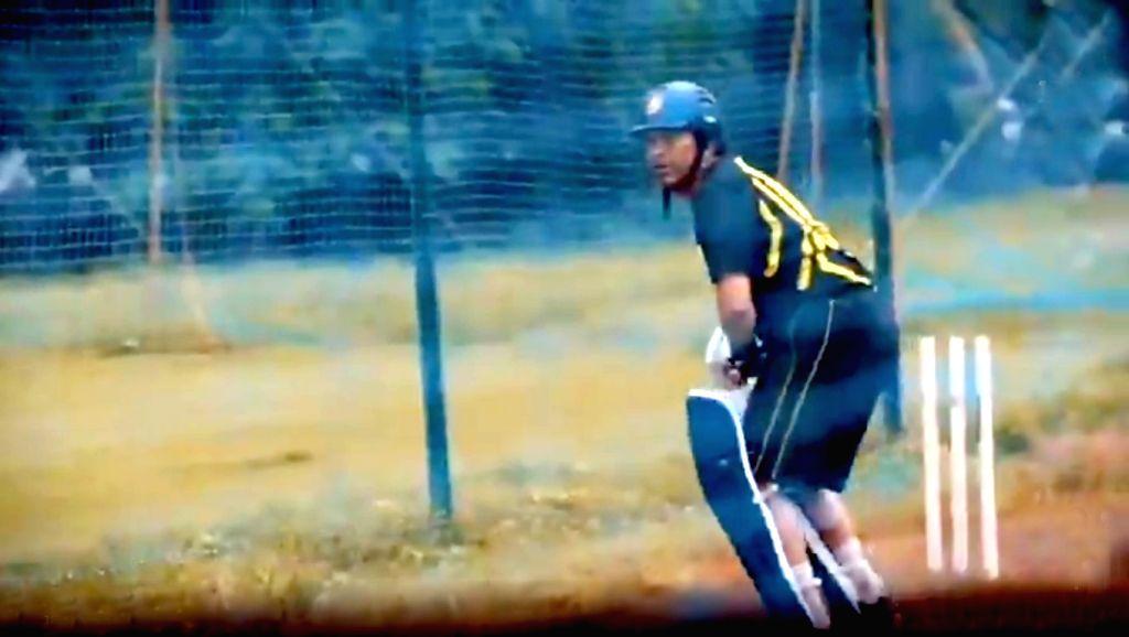Batting legend Sachin Tendulkar on Friday shared a rare video of him practicing on a water-logged pitch, sending fans down memory lane. - Sachin Tendulkar