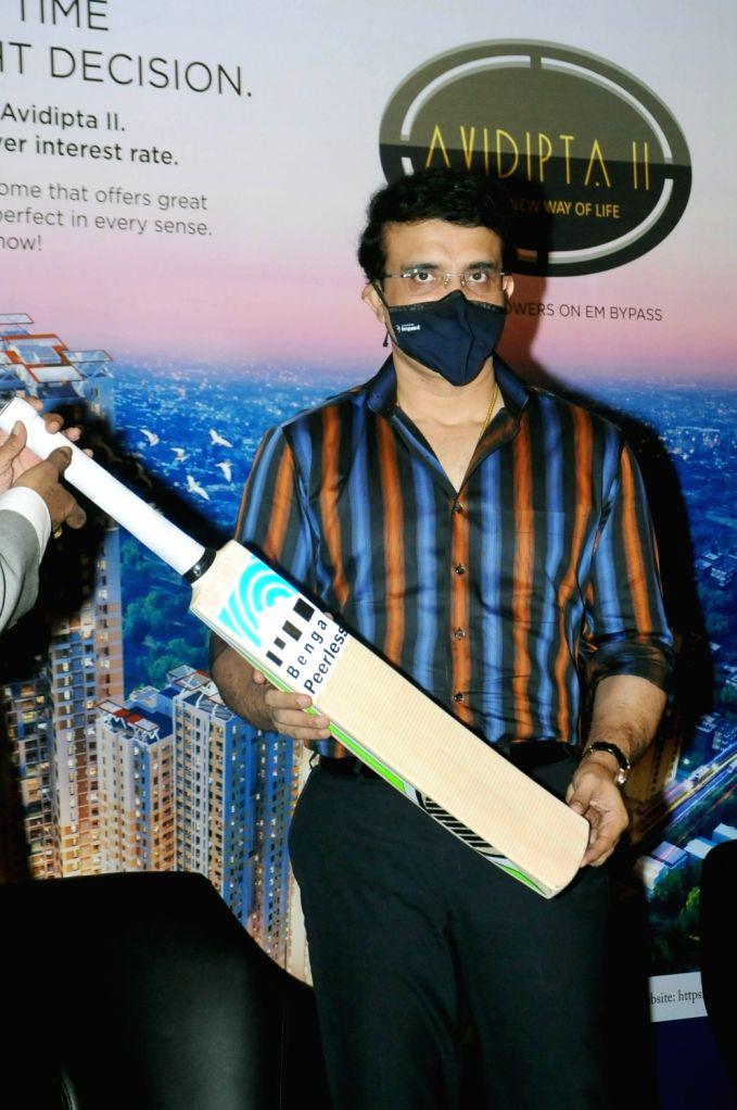 BCCI President and Bengal Peerless Housing Development Company Brand Ambassador Sourav Ganguly during a promotional programme, in Kolkata on Sep 28, 2020. - Sourav Ganguly