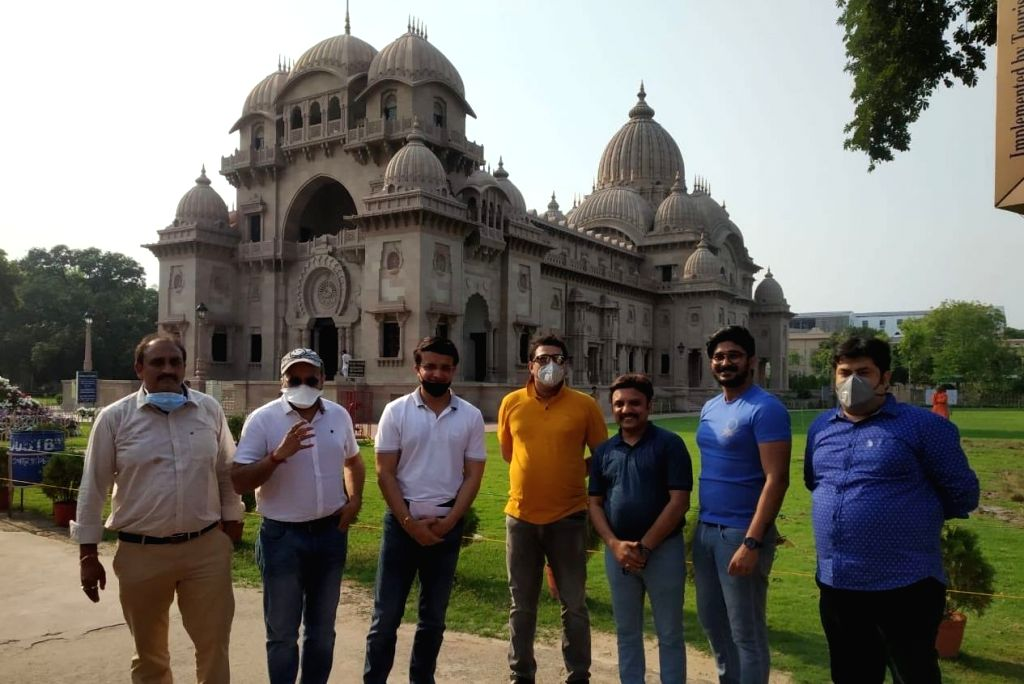 """BCCI president and former India captain Sourav Ganguly on Wednesday visited Belur Math, the global headquarters of the Ramakrishna Math and Ramakrishna Mission, to hand over 2000kgs of rice for the needy in his bid to fight the COVID-19 pandemic. """"Vi - Sourav Ganguly"""