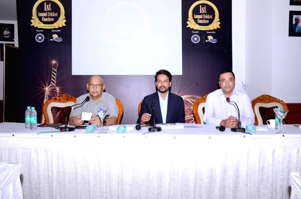 BCCI President Anurag Thakur during BCCI's 1st Annual Cricket Conclave in Dharamsala, on June 23, 2016.
