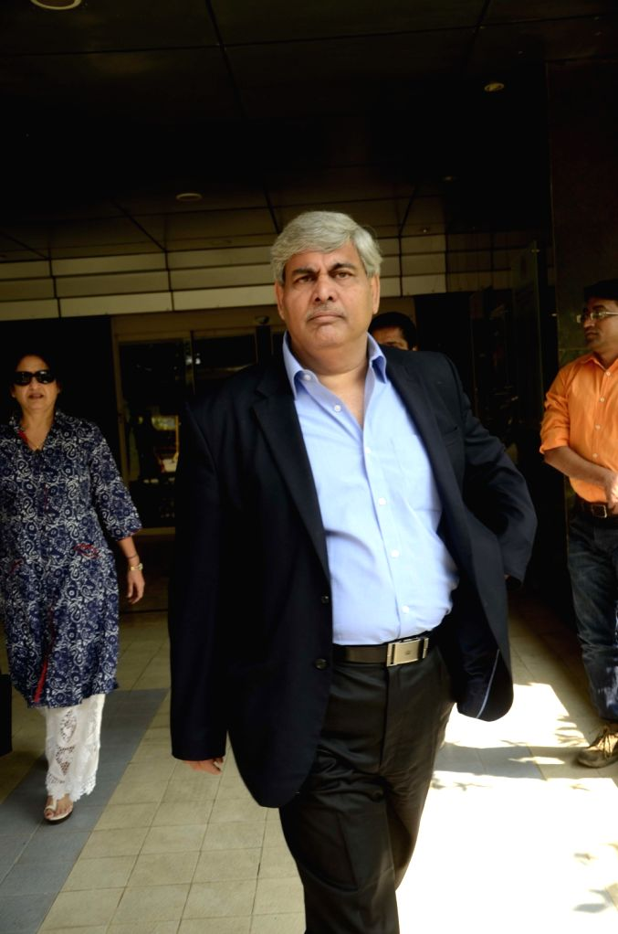 BCCI president Shashank Manohar arrives to attend the BCCI`s disciplinary committee meeting in Mumbai, on Jan 18, 2016.