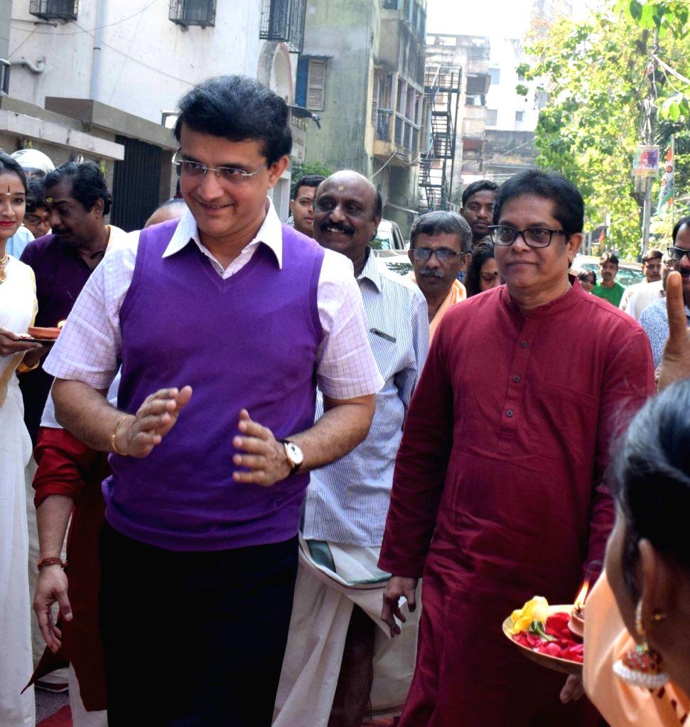 BCCI President Sourav Ganguly arrives at the Silver jubilee celebrations of Sree Guruvayurappan Temple, in Kolkata on Jan 25, 2020. - Sourav Ganguly