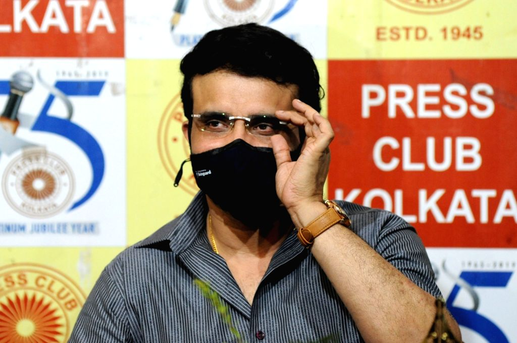 BCCI President Sourav Ganguly at the launch of CPI-M leader and Ex Minister Ashok Bhattacharya's book at the Press Club in Kolkata on Oct 20, 2020. - Ashok Bhattachary and Sourav Ganguly