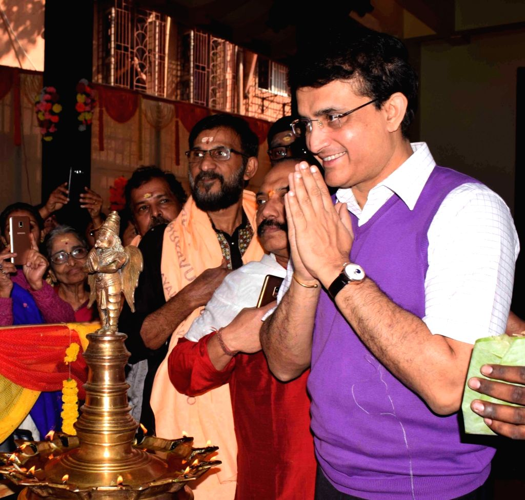 BCCI President Sourav Ganguly during the Silver jubilee celebrations of Sree Guruvayurappan Temple, in Kolkata on Jan 25, 2020. - Sourav Ganguly