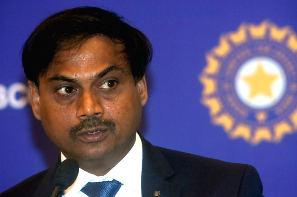 BCCI Selection Committee Chairman MSK Prasad addresses a press conference to announce the Indian squad for West Indies tour, at BCCI Head Office in Mumbai on July 21, 2019.
