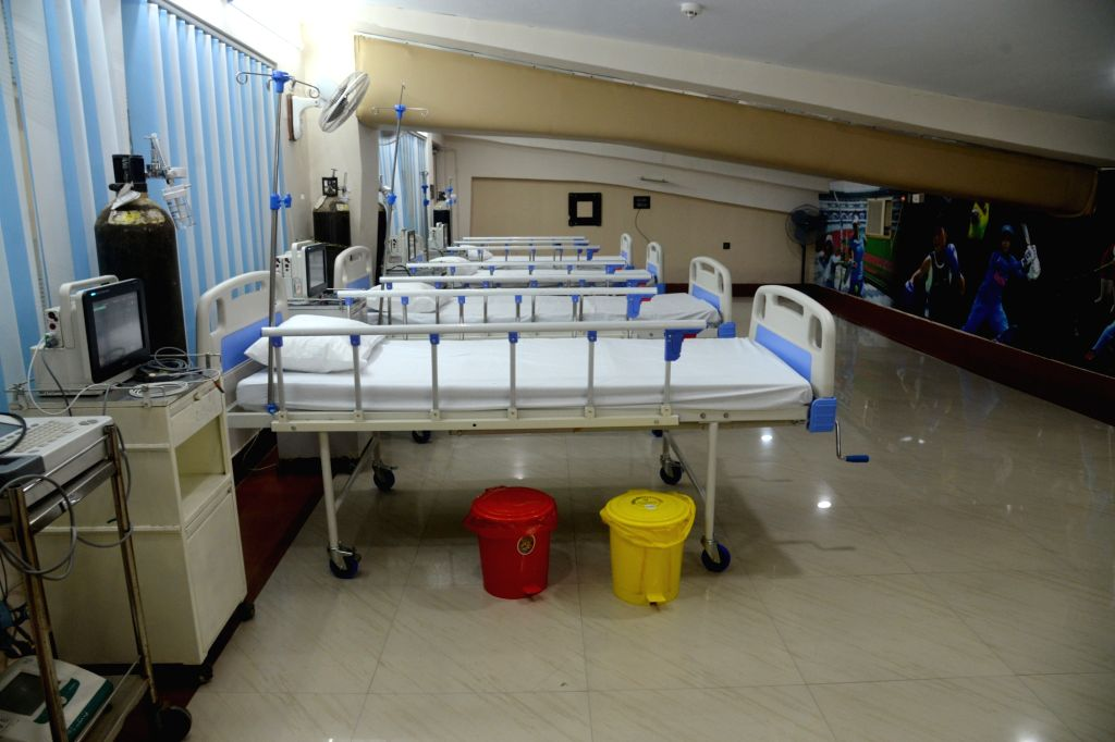 Beds, nurses, medical equipment and other facilities for Covid patients ready inside Salt Lake Stadium converted into COVID19 hospital and increasing numbers of COVID 19 cases in Kolkata on ...