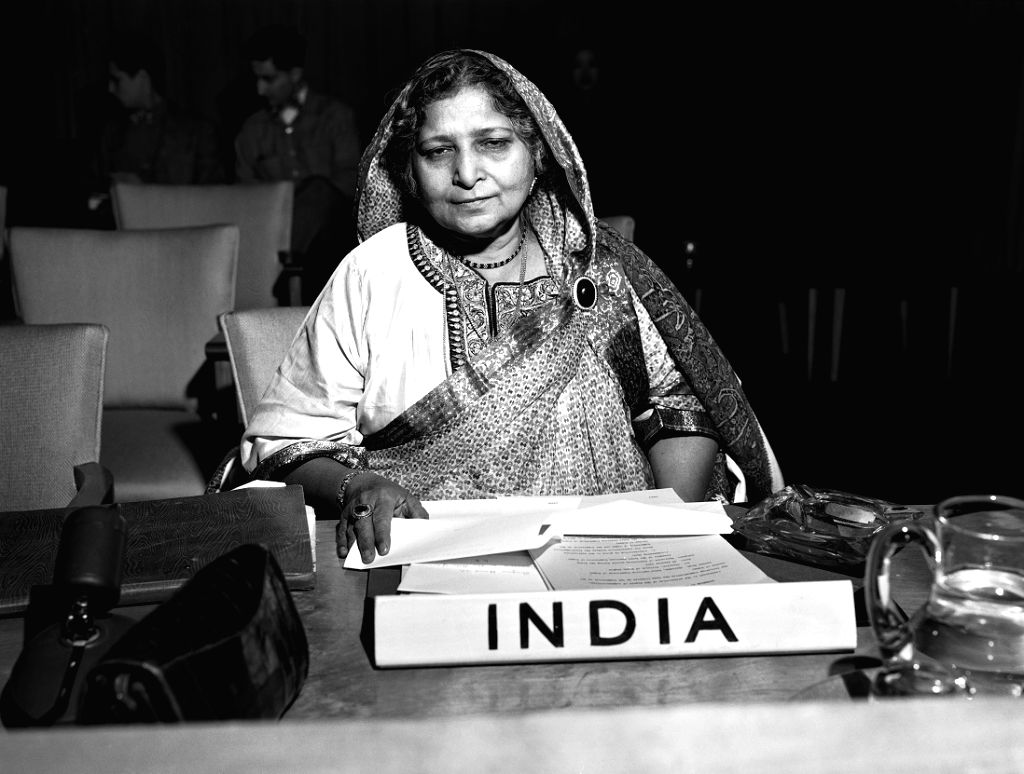 Begum Hamid Ali represented India on the United Nations Commission on the Status of Women.