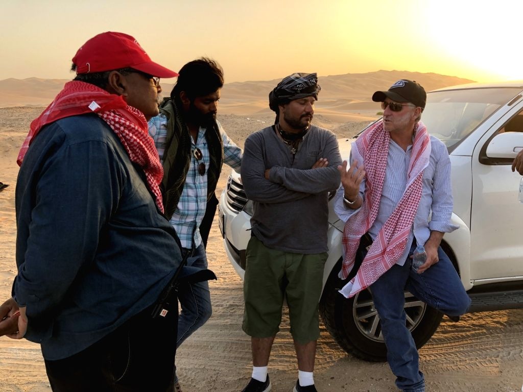 "Behind-the-scenes images of Hollywood action director Tom Struthers from the shooting of Bollywood film ""Race 3"", being shot in Abu Dhabi. - Tom Struthers"