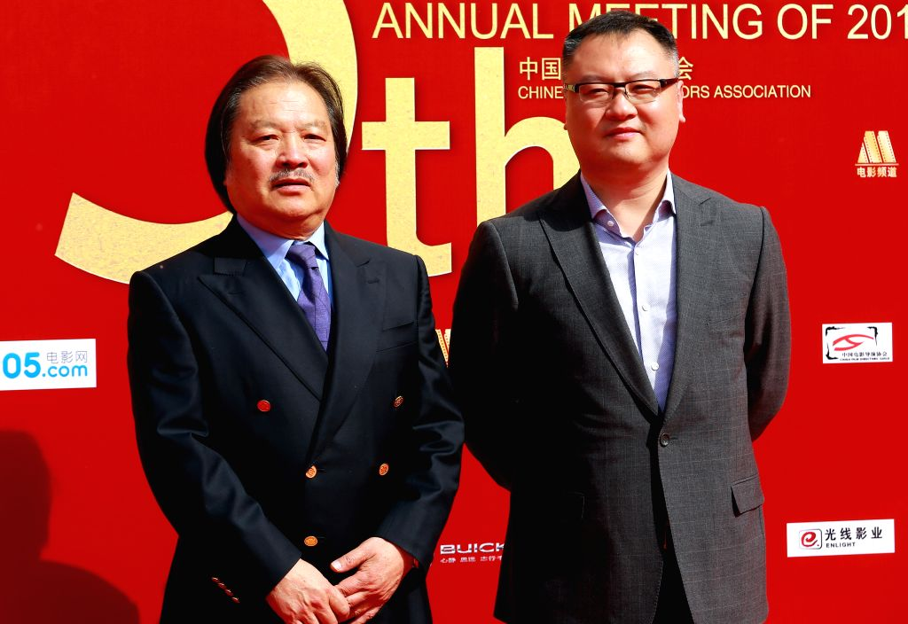 Actor at 2013 annual commendation conference of China Film Directors Guild in Beijing, capital of China, April 9, 2014.