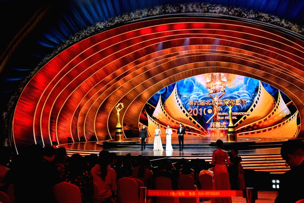 BEIJING, April 13, 2019 - Photo taken on April 13, 2019 shows the opening ceremony of the ninth Beijing International Film Festival in Beijing, capital of China.