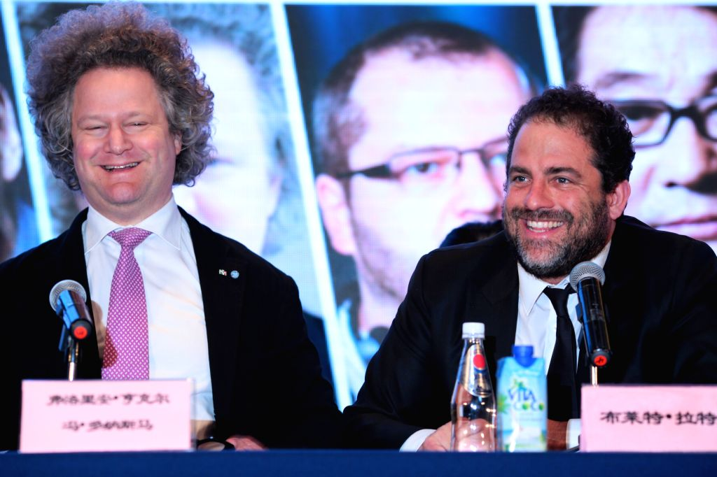 "BEIJING, April 15, 2016 - Brett Ratner (R), executive producer of ""The Revenant"" and German director Florian Henckel von Donnersmarck attend a press conference of the international jury of ... - Florian Henckel"