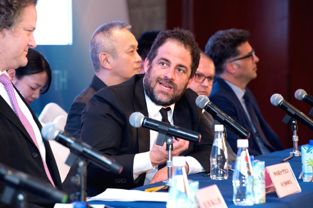 BEIJING, April 15, 2016 - Chairman of the jury Brett Ratner answers questions during a press conference of the international jury of Tiantan Award of the 6th Beijing International Film Festival in ...