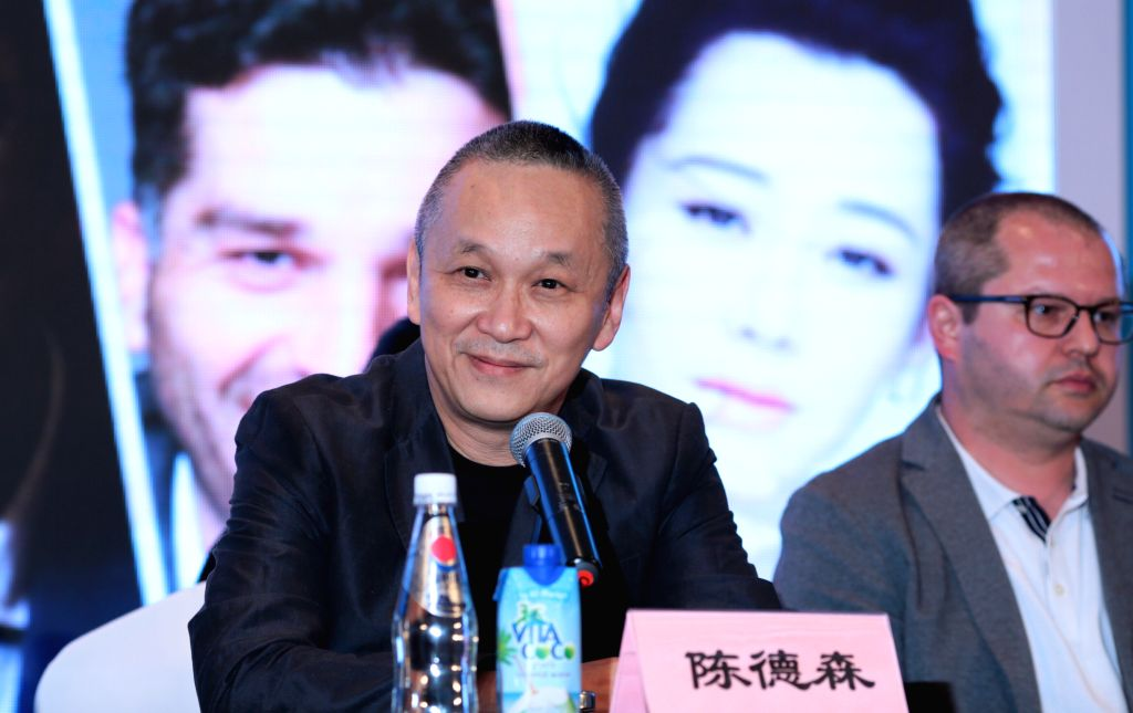 BEIJING, April 15, 2016 - Teddy Chen, director from China's Hong Kong, attends a press conference of the international jury of Tiantan Award of the 6th Beijing International Film Festival in Beijing, ...