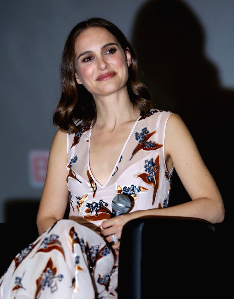 "BEIJING, April 17, 2016 - American director and actress Natalie Portman attends a meeting of her movie ""A Tale of Love and Darkness"" in Beijing, capital of China, April 17. 2016. The ... - Natalie Portman"