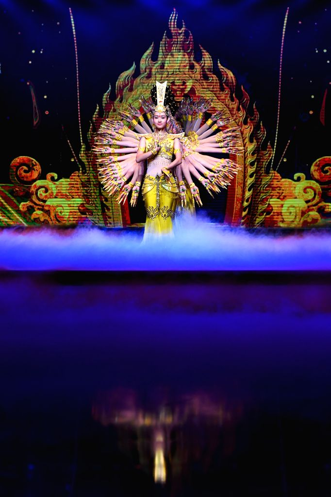 BEIJING, April 17, 2017 - Dancers from China Disabled People's Performing Art Troupe perform during the opening ceremony of the 7th Beijing International Film Festival (BJIFF) in Beijing, capital of ...