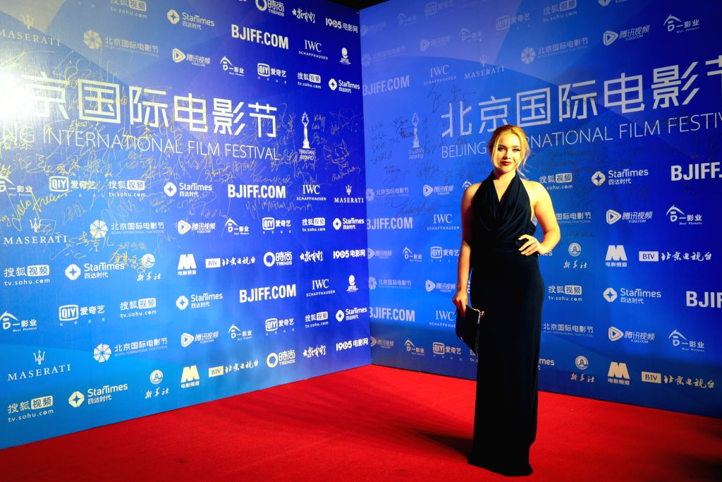 """Actress of """"The Falling"""" Florence Pugh attends the premiere of the movie as part of the 5th Beijing International Film Festival in Beijing, capital of ..."""