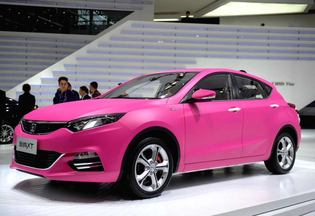 A Changan XT vehicle is displayed during the media preview of the 2014 Beijing International Automotive Exhibition in Beijing, China, April 20, 2014. The auto ...