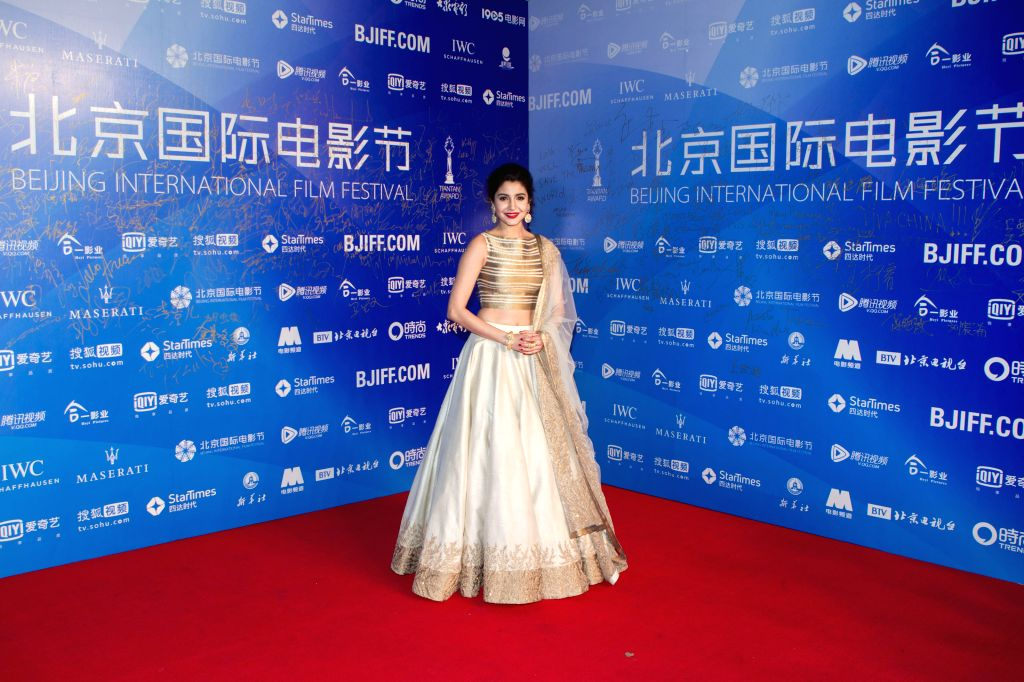 """Actress Anushka Sharma attends the premiere ceremony of the film """"NH10"""" for the competition section at the fifth Beijing International Film Festival ... - Anushka Sharma"""