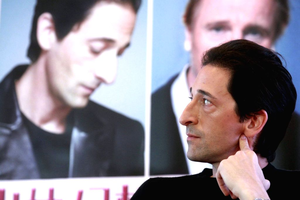 """Actor Adrien Brody attends a press conference for """"Third Person"""" at the 4th Beijing International Film Festival in Beijing, capital of China, April 23, .. - Adrien Brody"""