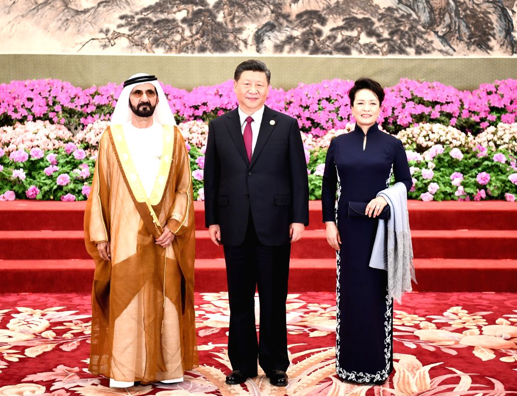 BEIJING, April 26, 2019 - Chinese President Xi Jinping and his wife Peng Liyuan welcome the United Arab Emirates (UAE) Vice President and Prime Minister Sheikh Mohammed bin Rashid Al Maktoum, also ... - Sheikh Mohammed