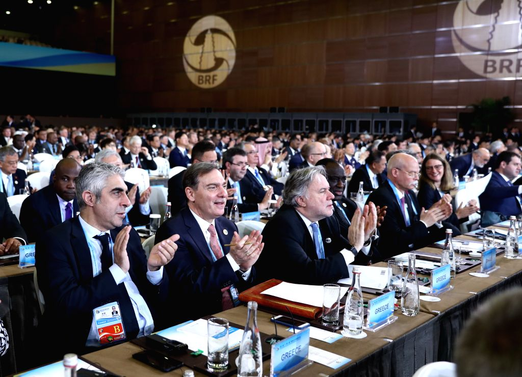 BEIJING, April 26, 2019 - The opening ceremony of the Second Belt and Road Forum for International Cooperation is held at the China National Convention Center in Beijing, capital of China, April 26, ...