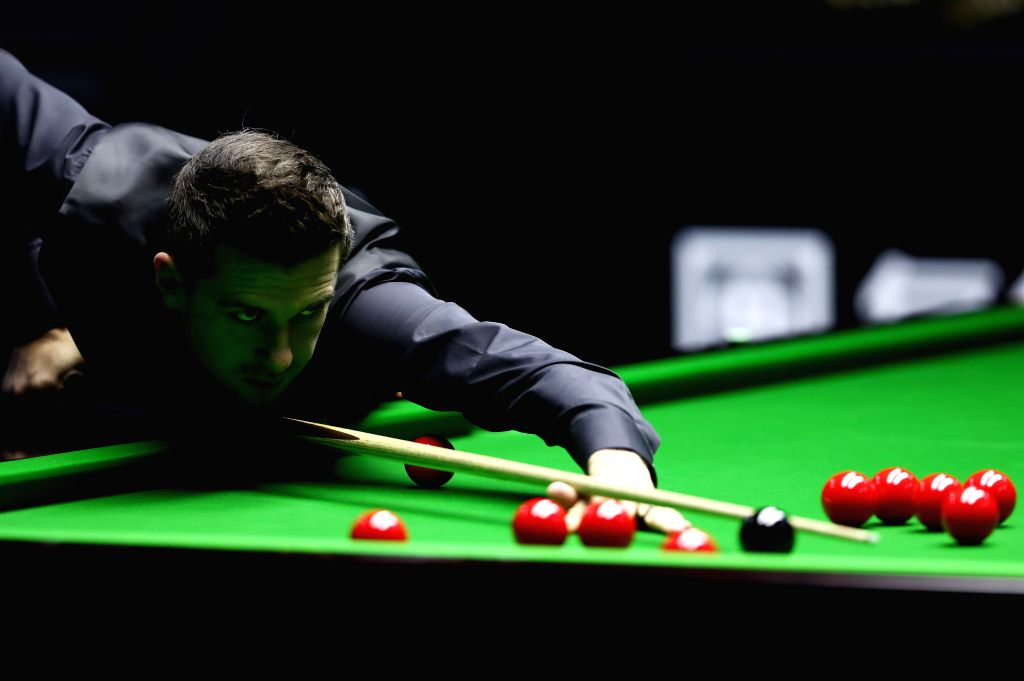BEIJING, April 6, 2018 - Mark Selby of England competes during the quarterfinal match against Mark Williams of Wales at 2018 World Snooker China Open tournament in Beijing, capital of China, April 6, ...