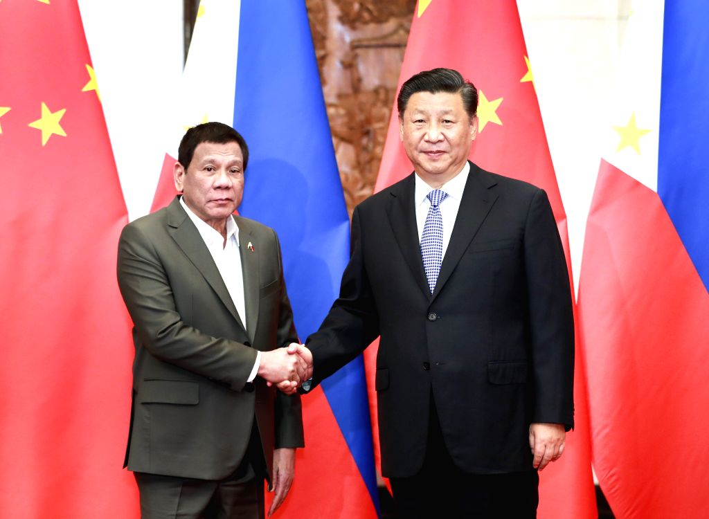 BEIJING, Aug. 29, 2019 - Chinese President Xi Jinping meets with Philippine President Rodrigo Duterte at the Diaoyutai State Guesthouse in Beijing, capital of China, Aug. 29, 2019.